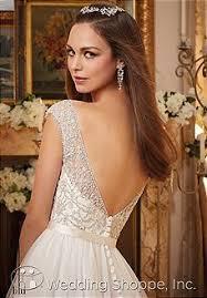 wedding dress 2873 crystal beaded straps billowy tulle ball