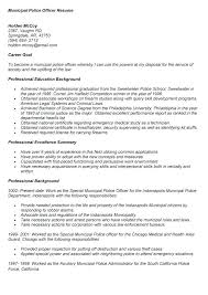 Police Officer Resume Sample For Template Free Military To Examples