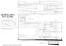 100 Barcelona Pavilion Elevation Hng Xuan Nings Architecture Eportfolio Design Communication ARC