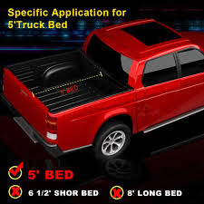 AUSI Toyota Tacoma 5' Tri-Fold Truck Bed Cover Heavy Duty Tonneau ... Roll N Lock Retractable Truck Bed Cover Nissan Frontier Navara Weathertech 8hf020046 Alloycover Hard Trifold Pickup Truxedo Truxport Lo Pro Tonnueau On 201418 Chevy Up Installation Video Youtube Weathertechcom Bakflip G2 Folding Heaven Floor Mats 15 Gmc Coloradocanyon Reg Ext Cab Lund Intertional Products Tonneau Covers 0918 Ford F150 65 Loroll Tonneau Bakflip Cs Covers Rack A Combination Of A Hard Folding Retraxpro Mx Truck Bed Tonneau Cover Road Warrior Car Racks