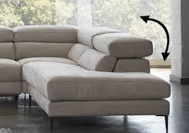 canapé angle design canapé d angle design en tissu doux avec tétières relevables