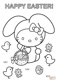 Click The Hello Kitty Happy Easter Coloring Pages To View Printable