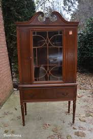 Thrift China Cabinet Makeover