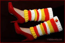 crochet tutorial candy corn leg warmers yarnutopia by nadia fuad