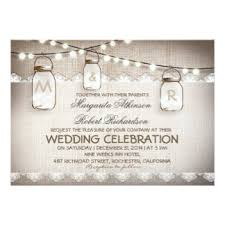 Burlap And Lace Wedding Invitations Announcements