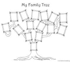 Free Printable Family Tree Wall Charts Coloring Pages With Siblings Forms Full Size