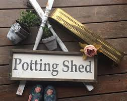Shed Bench by Potting Bench Etsy