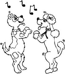 Couple Dancing Dog Coloring Pages