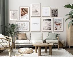 calm paradise gallery wall bilderwand bilder wohnzimmer