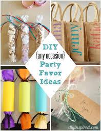 DIY Party Favor Ideas