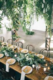 Greenery Wedding Ideas Table Runner For Reception