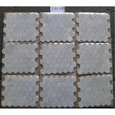 Casa Antica Tile Marble by Carrara White Italian Carrera Marble Hexagon Mosaic Tile 2 Inch