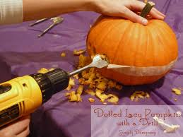 Pumpkin Carving Dremel Bit by Dotted Lacy Carved Pumpkin With A Drill
