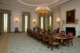 Michelle Obama Touches Up White House State Dining Room ... Cynthia Rowley For Hooker Fniture Shangrila Gilded Ding Queenie Eileenie The Room Classic Luxury Villa Interior Design Doha Qatar Cas Ding Room Interior Funcash Kitchen Dinette Chair Set Of 2 Golden Pu Leather Backrest Metal Legs Age Phillip Jeffries Gildedthronecom Classic Modern Contemporary Online Home 4 Oval Caned Back Regency Style Arm Or Chairs With Details Why A Bergre Is The Perfect And Where To Find Upholstered With Arms Antique Mahogany Wooden Finish Buy Armsantique Am Private Meeting Marion Flipse Partners