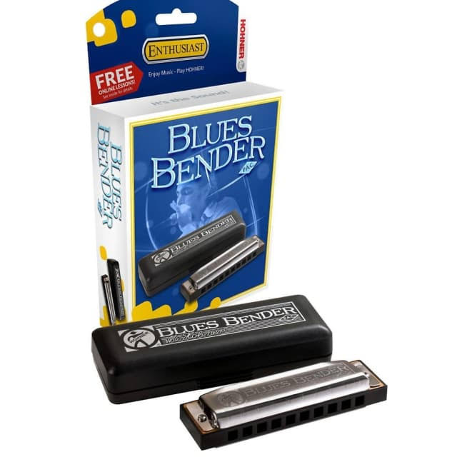 Hohner Blues Bender Harmonica - Chrome, Key of G