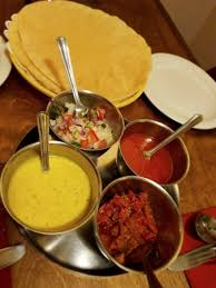 dips cuisine poppadoms and various dips chutney was so picture of