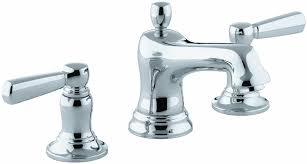 kohler k 10577 4 cp bancroft widespread lavatory faucet polished