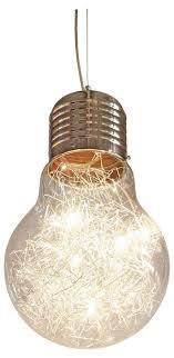 contemporary modern bare bulb light metal chrome ceiling
