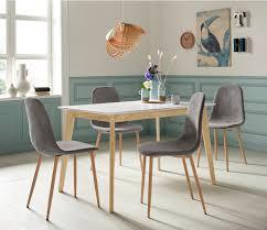 homexperts essgruppe kaitlin tischgruppe set 5 tlg bestehend aus esstisch kailtin breite 120 cm und 4 stühlen bezug in cord kaufen
