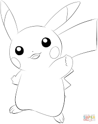 Pokemon GO Pikachu Coloring Page