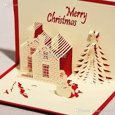 3d Greeting Card Castle In Winter Handmade Paper Craft Pop Up Christmas With Envelope Buy Gift Printable Cards From