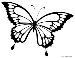 Coloring Pictures Of Butterflies Simple Butterfly Page