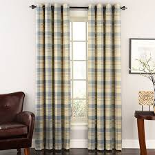 Boscovs Blackout Curtains by Rutherford Woven Plaid Grommet Panel Boscov U0027s