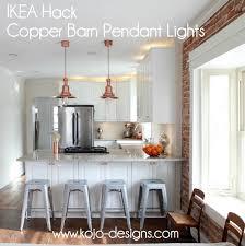 IMG 4365 001 Ikea Hack Copper Barn Pendant Lights