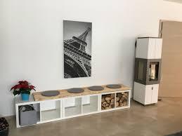 kaminbank kaminecke holzaufbewahrung innen wohnzimmer