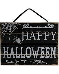 DII Indoor And Outdoor Wood Fall Halloween Hanging Door Decorations Wall Signs Haunted House