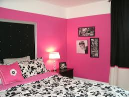 Dramatic Hot Pink Black & White Teen Bedroom Contemporary