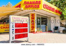 bureau de change york bureau de change with conversion rates rome italy stock photo
