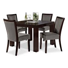tango gray 5 pc dinette 42 table value city furniture
