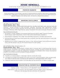 Personal Banker Resumes Business Resume Free Sample Banking