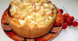 apfel käsekuchen mit karamellguss und marzipan 18 cm springform