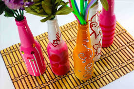 A Plastic Recycled Craft How Easy Handicrafts Bottle Making Step By To Make Vase From