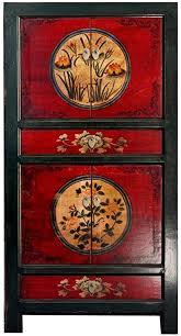 opium outlet chinesischer vintage schrank hochzeitsschrank rot schwarz kommode landhaus stil für schlafzimmer wohnzimmer