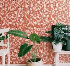 70er jahre gänseblümchen muster natur tapete
