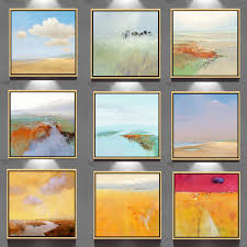 Art Craft Wall Picture Simple Famous Handmade Scenery Paintings Painting GZ 201