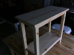 the quaint cottage diy simple end table for small spaces