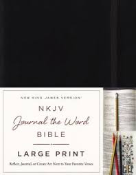 NKJV Journal The Word Bible Large Print Hardcover Black Red Letter Edition Reflect Or Create Art Next To Your Favorite Verses