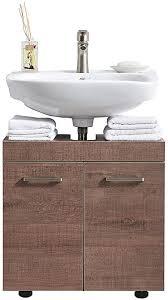 delicaho moderner braune holzmaserung badezimmerschrank