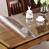 OstepDecor Custom 15mm Thick Crystal Clear PVC Table Cover Protector Desk Pads Mats Multi