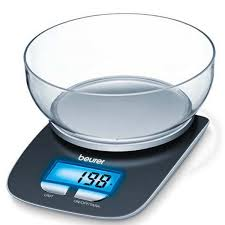 balance de cuisine design avec bol de pesée ks25 beurer