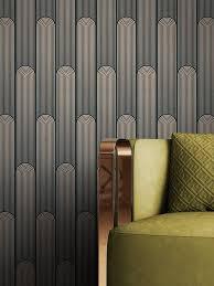 newroom vliestapete schwarz tapete grafisch leicht glänzend mustertapete grafik gold geometrisch modern linien streifen für wohnzimmer schlafzimmer