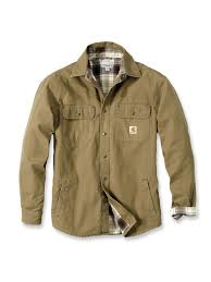 104 Carhart On Sale T 100590 Weathered Canvas Shirt Jacket Frontier Brown
