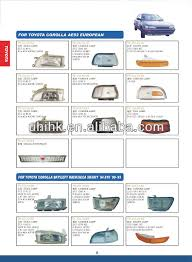 Car Body Parts lamps For Toyota Corolla Ae92 European Sky94 E10