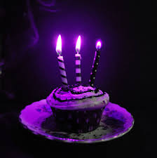 Neon purple candles and cupcake candles cupcakes halloween halloween pictures happy halloween halloween ideas