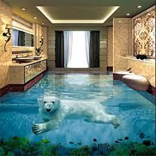 eisbär unterwasserwelt 3d stereo badezimmer boden große benutzerdefinierte wasserdichte tapete 350 245 cm