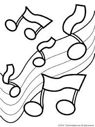 Full Image For Music Note Coloring Pages Print Notes Preschoolers